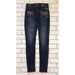 NWT Express Mid Rise Rhinestone Jeggings